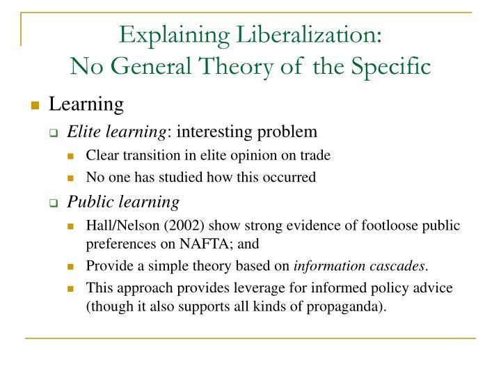 Explaining Liberalization: