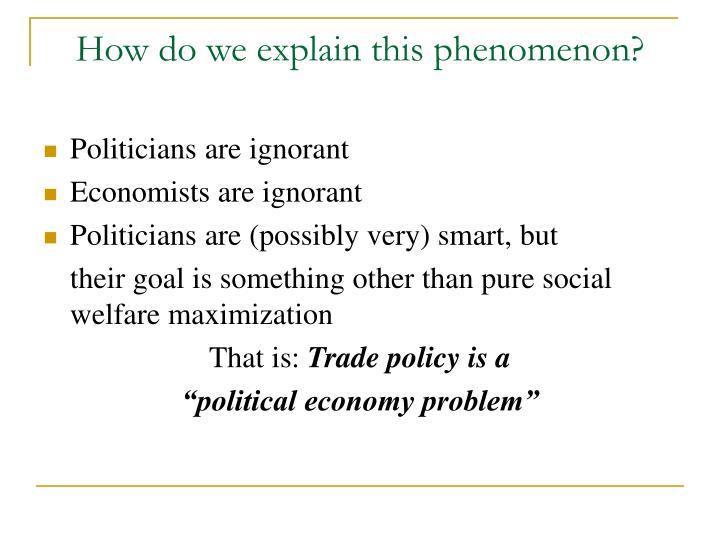 How do we explain this phenomenon?