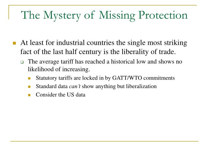 The Mystery of Missing Protection