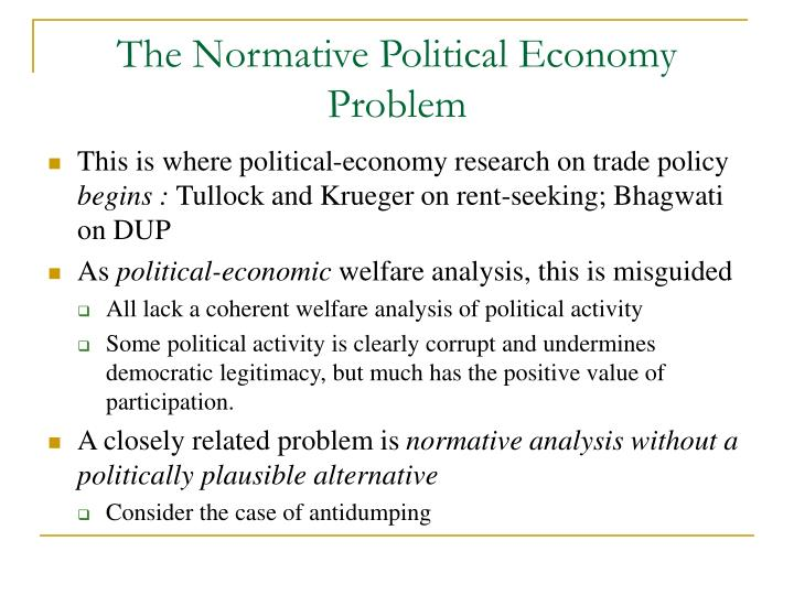 The Normative Political Economy Problem