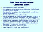 first conclusions on the combined event