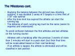 the milestones cont