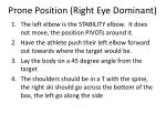 prone position right eye dominant