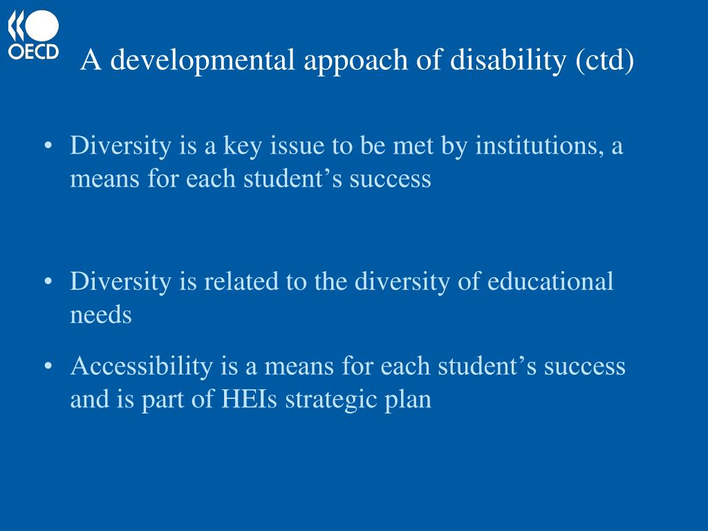 A developmental appoach of disability (ctd)