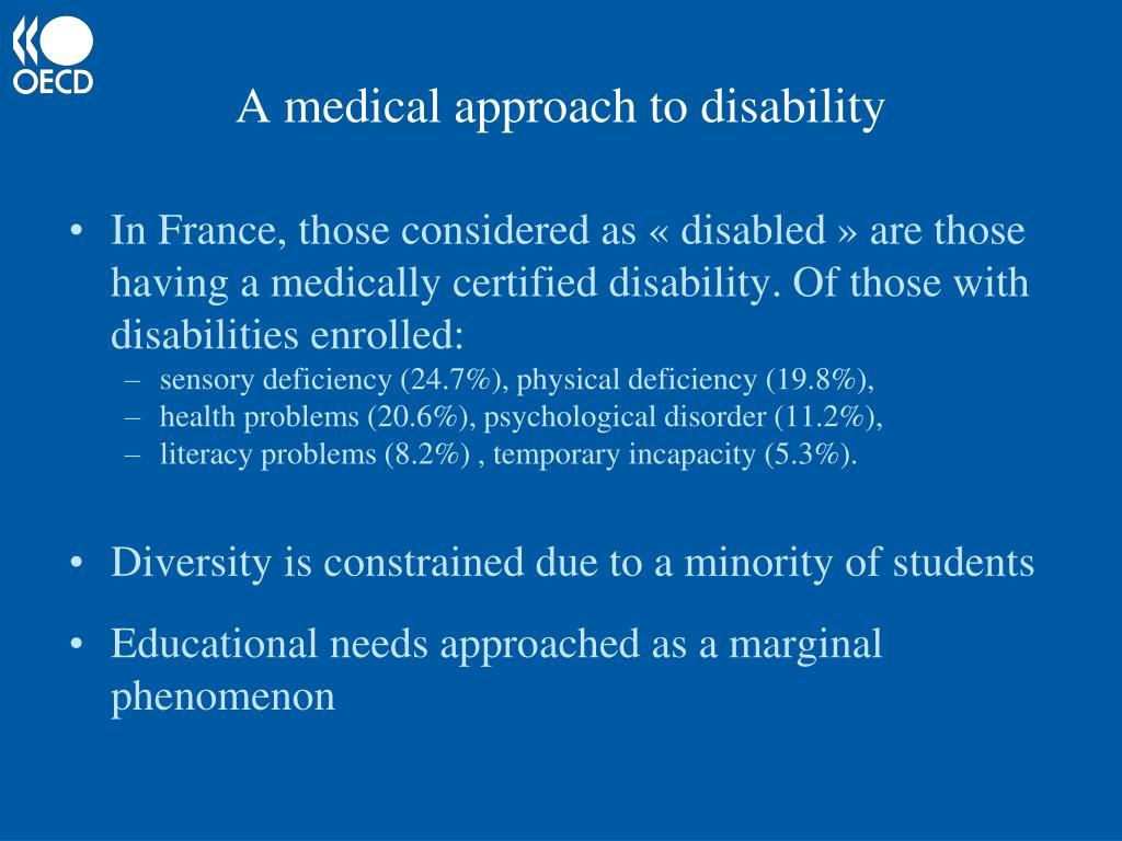 A medical approach to disability
