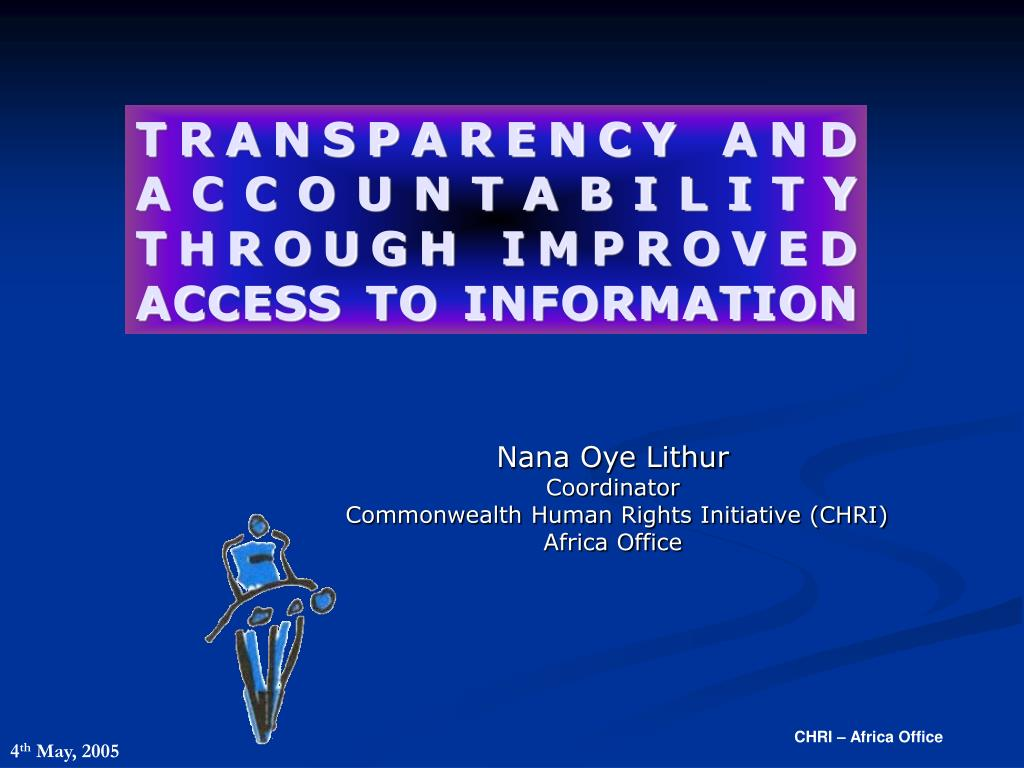 transparency and accountability through improved access to information