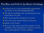 the rise and fall of the know nothings