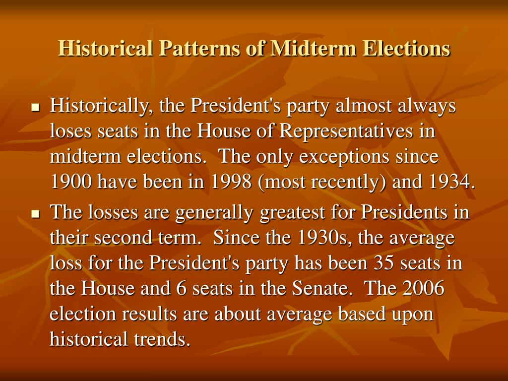 Historical Patterns of Midterm Elections