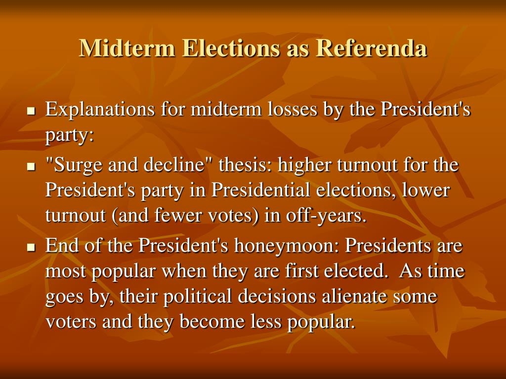 Midterm Elections as Referenda