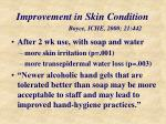 improvement in skin condition boyce iche 2000 21 442