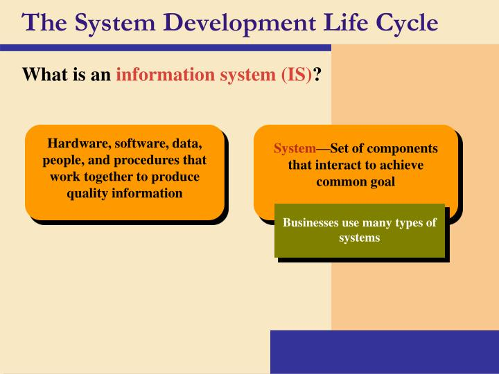 the system development life cycle n.