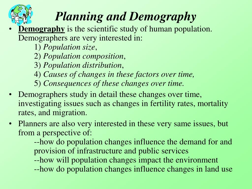 Planning and Demography
