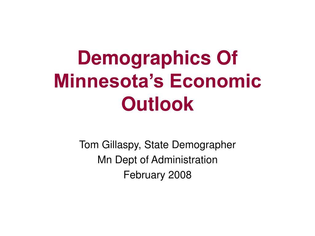 Demographics Of Minnesota's Economic Outlook