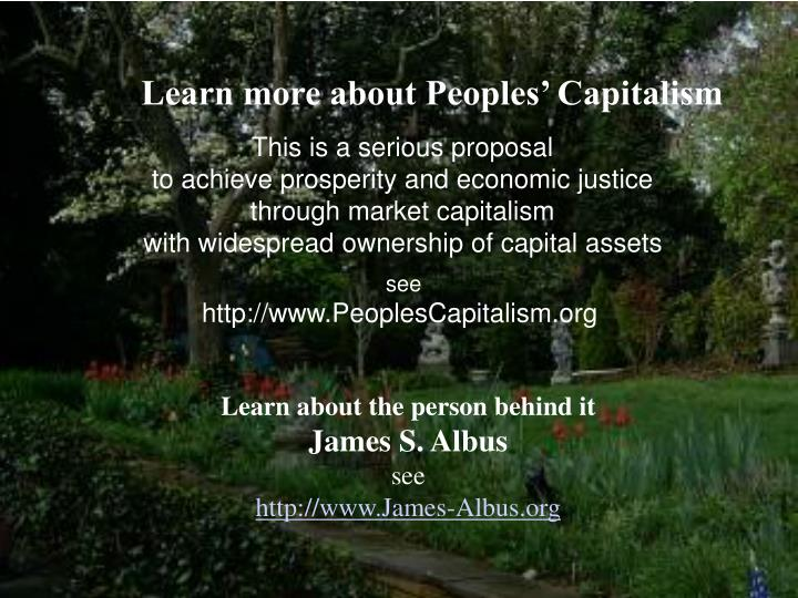 Learn more about Peoples' Capitalism