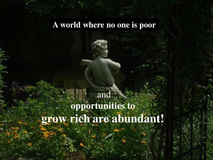 A world where no one is poor
