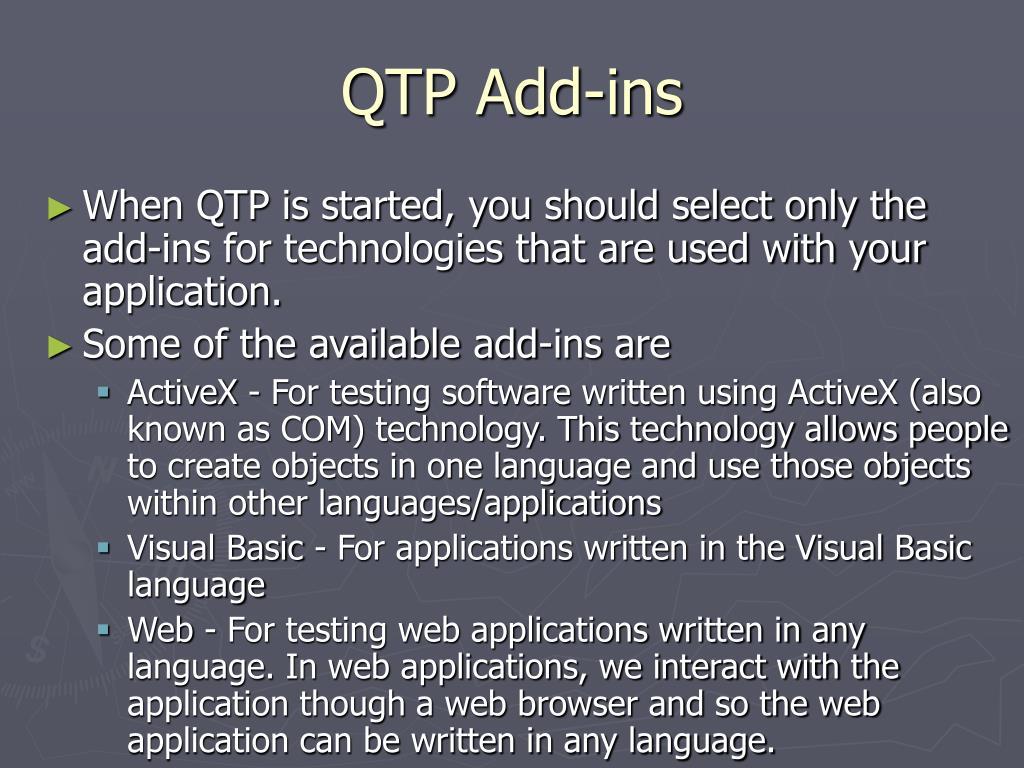 QTP Add-ins