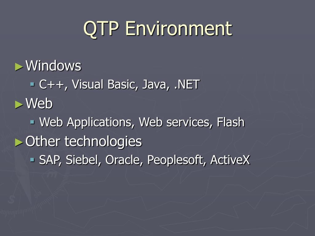 QTP Environment