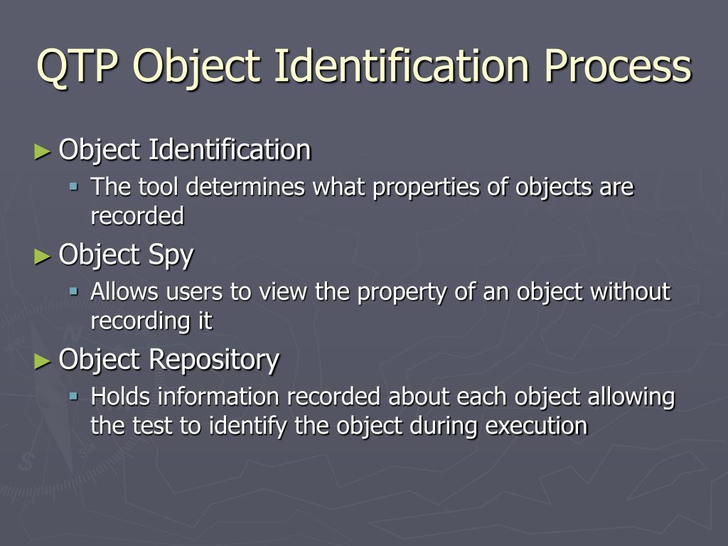 QTP Object Identification Process