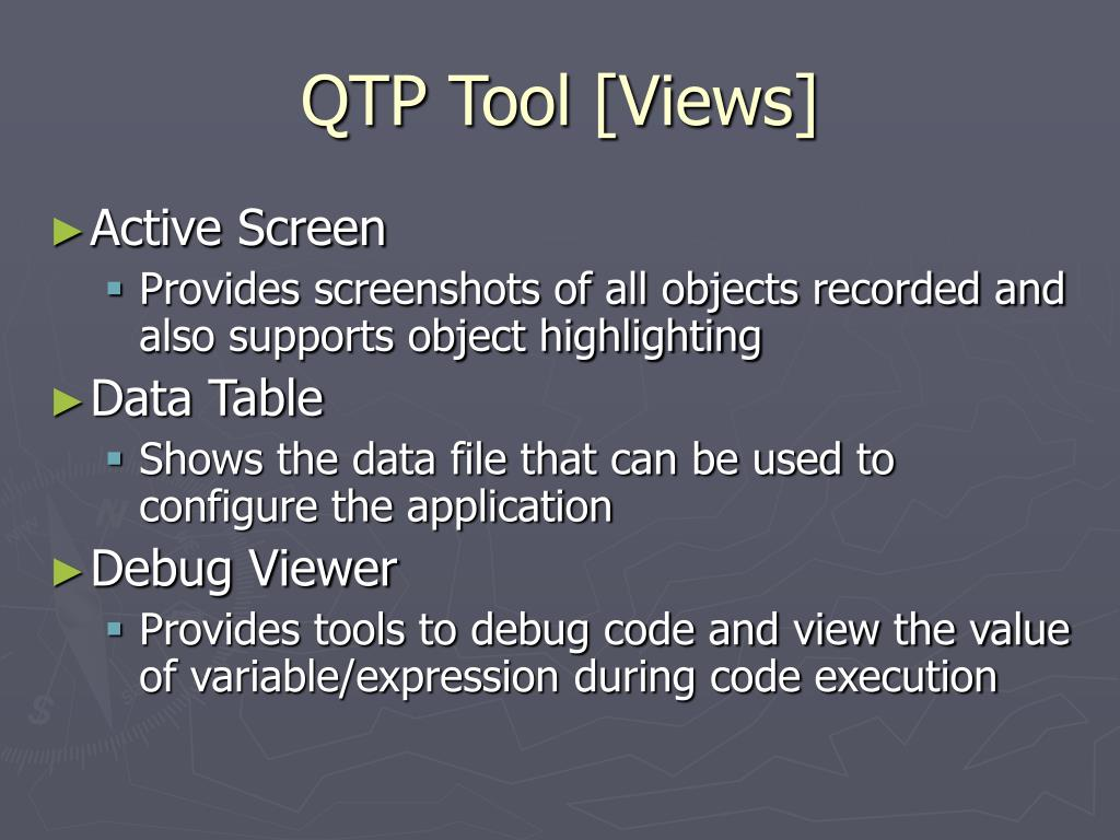 QTP Tool [Views]