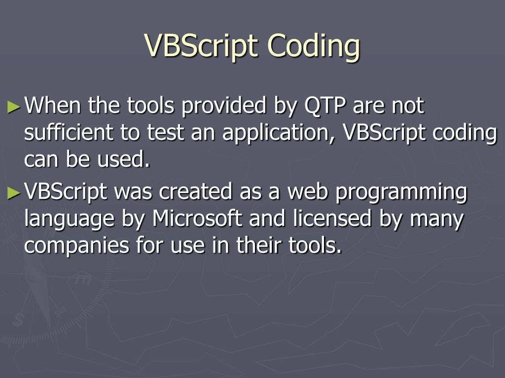 VBScript Coding