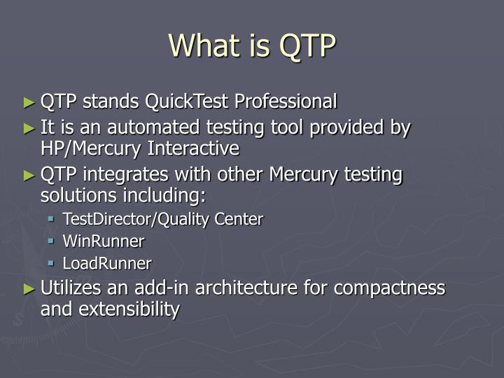 What is qtp