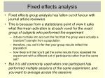 fixed effects analysis24