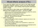 mixed effects analysis fsl
