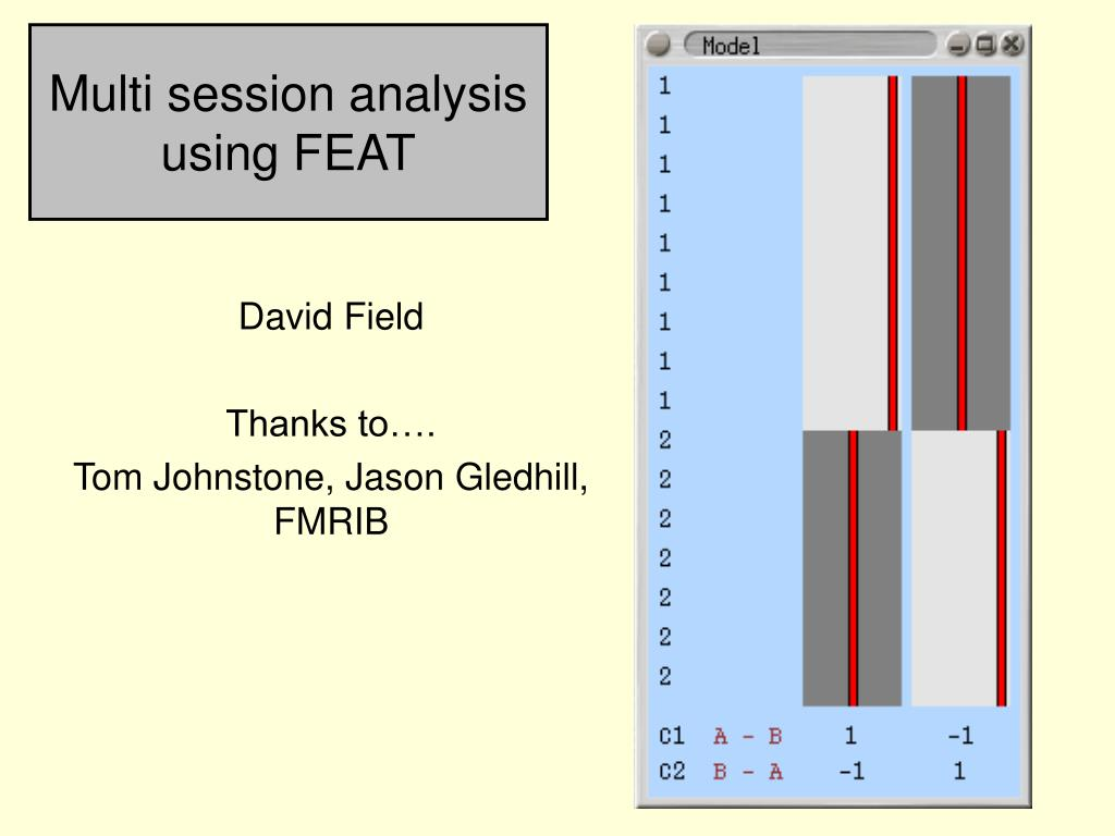 multi session analysis using feat