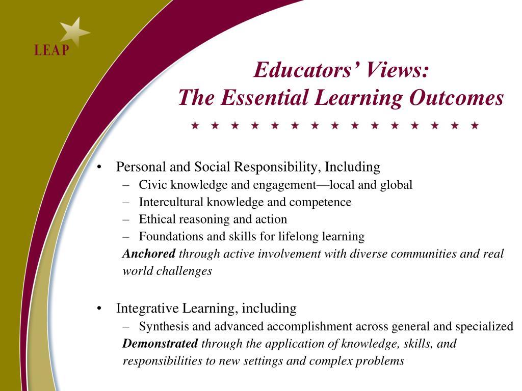 Educators' Views: