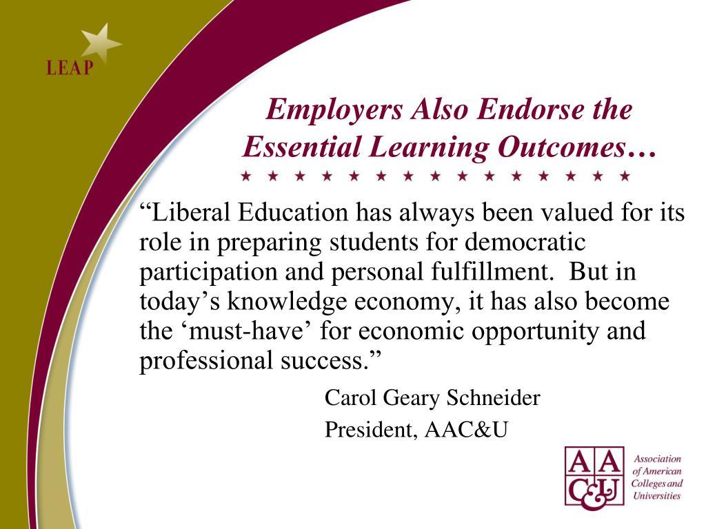 Employers Also Endorse the
