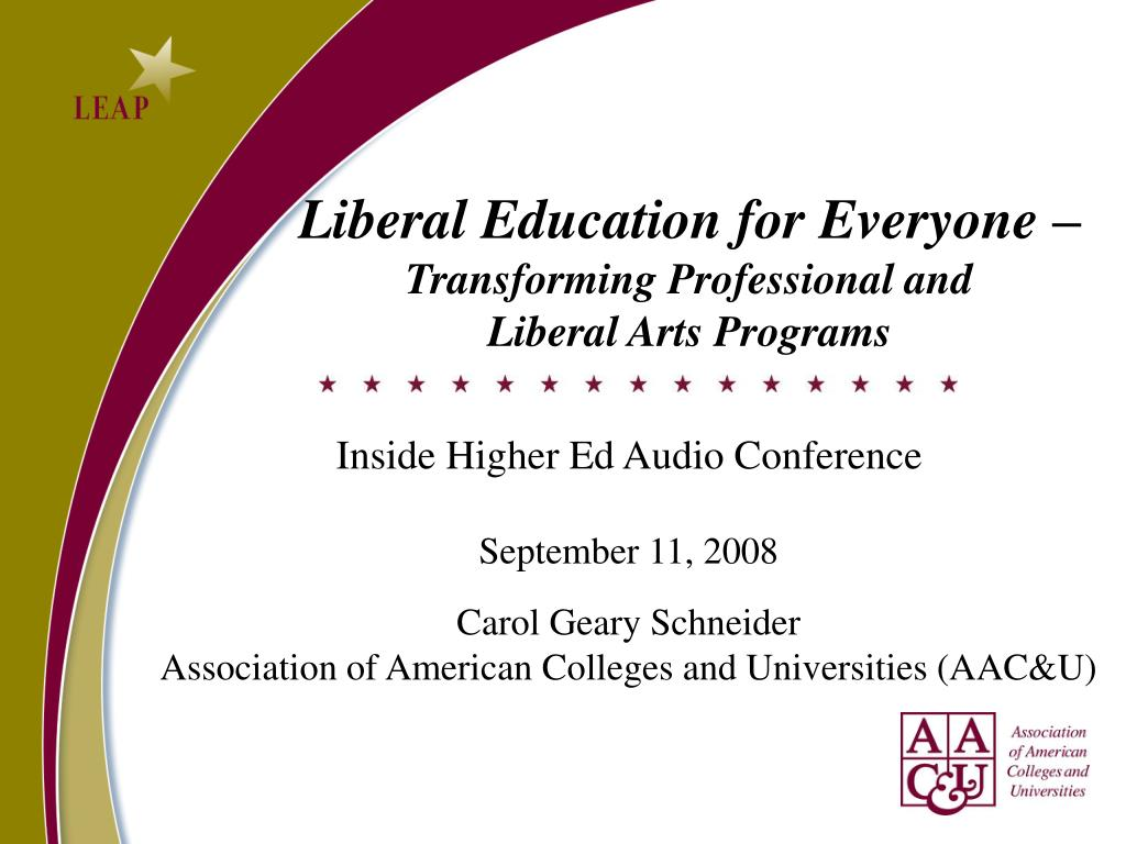 Liberal Education for Everyone –