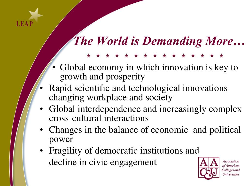 The World is Demanding More…