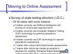 moving to online assessment36