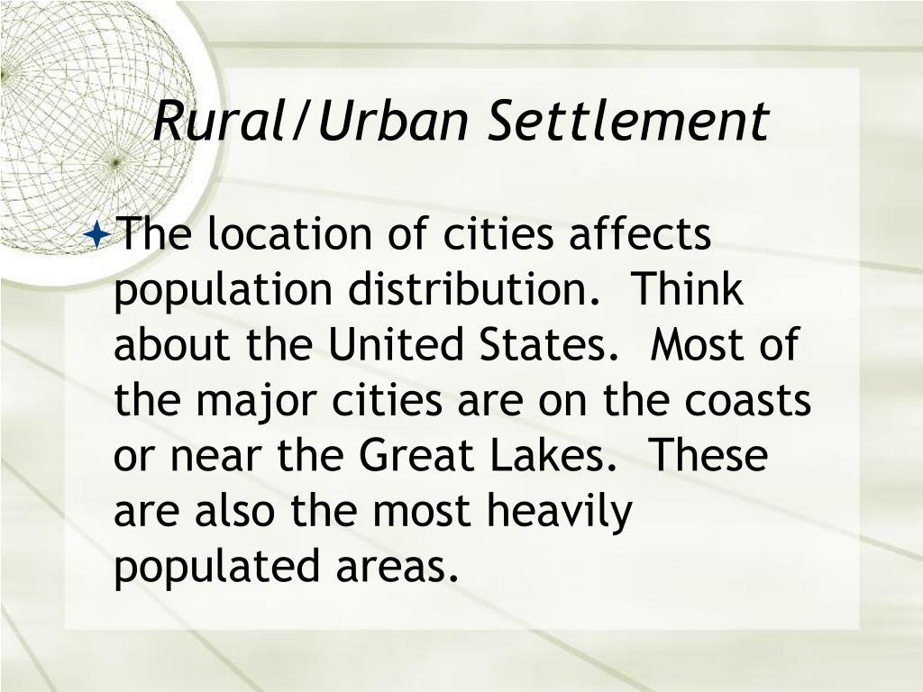 Rural/Urban Settlement