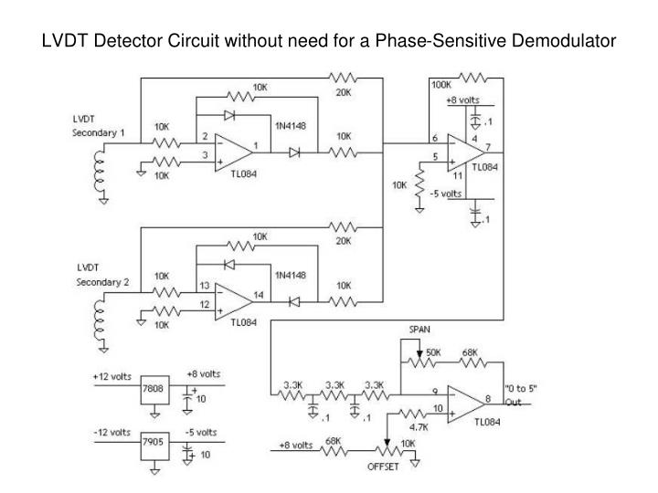LVDT Detector Circuit without need for a Phase-Sensitive Demodulator