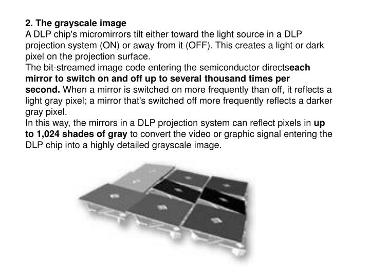 2. The grayscale image