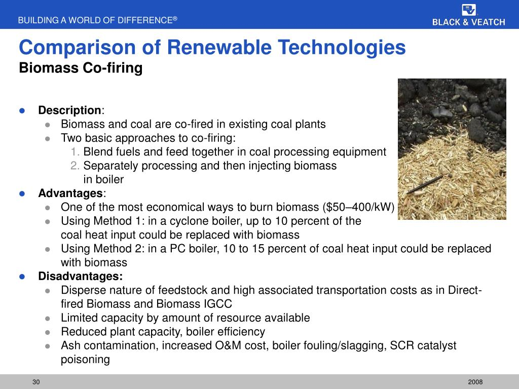 Comparison of Renewable Technologies