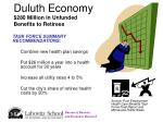 duluth economy 280 million in unfunded benefits to retirees