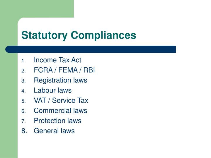 Statutory Compliances