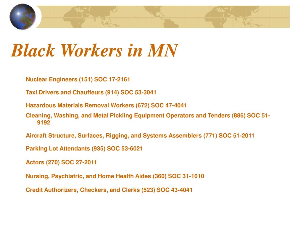 Black Workers in MN