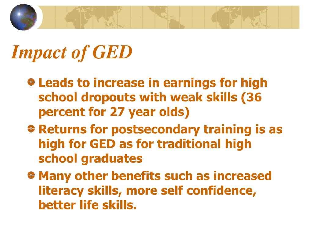Impact of GED