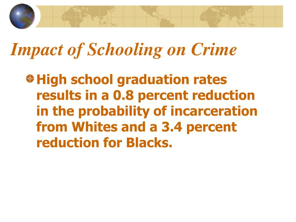 Impact of Schooling on Crime