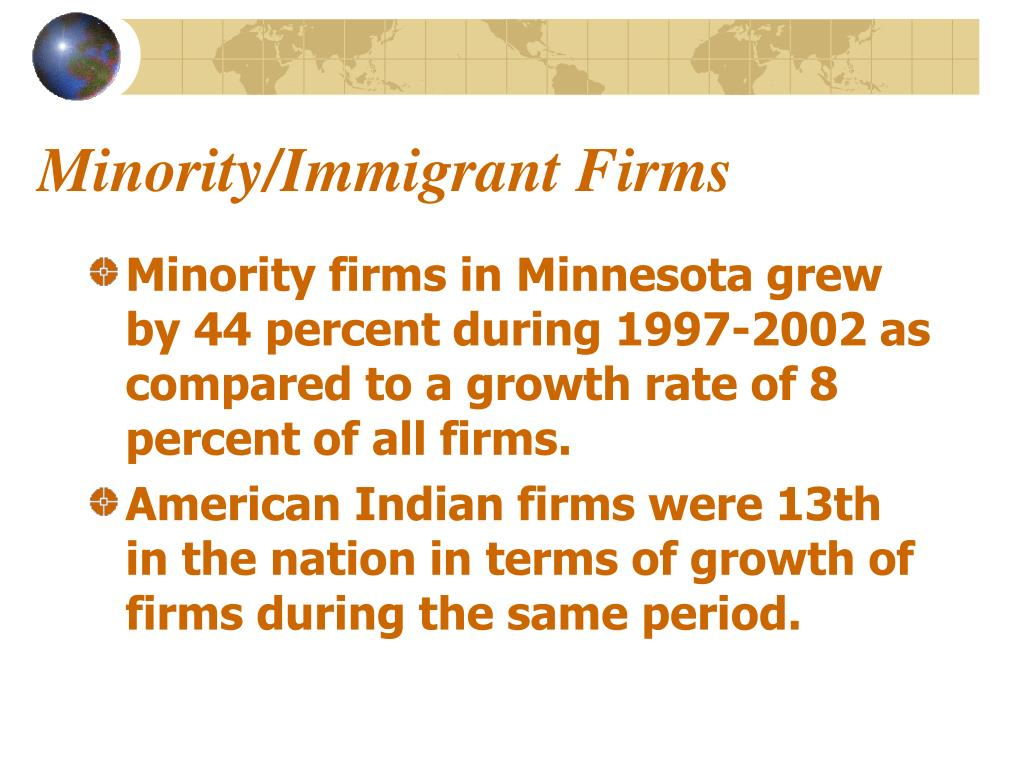 Minority/Immigrant Firms
