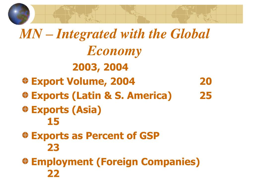 MN – Integrated with the Global Economy