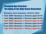 changing age structure the aging of the baby boom generation
