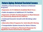 future aging related societal issues