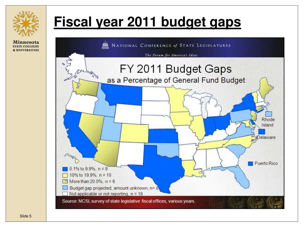 Fiscal year 2011 budget gaps
