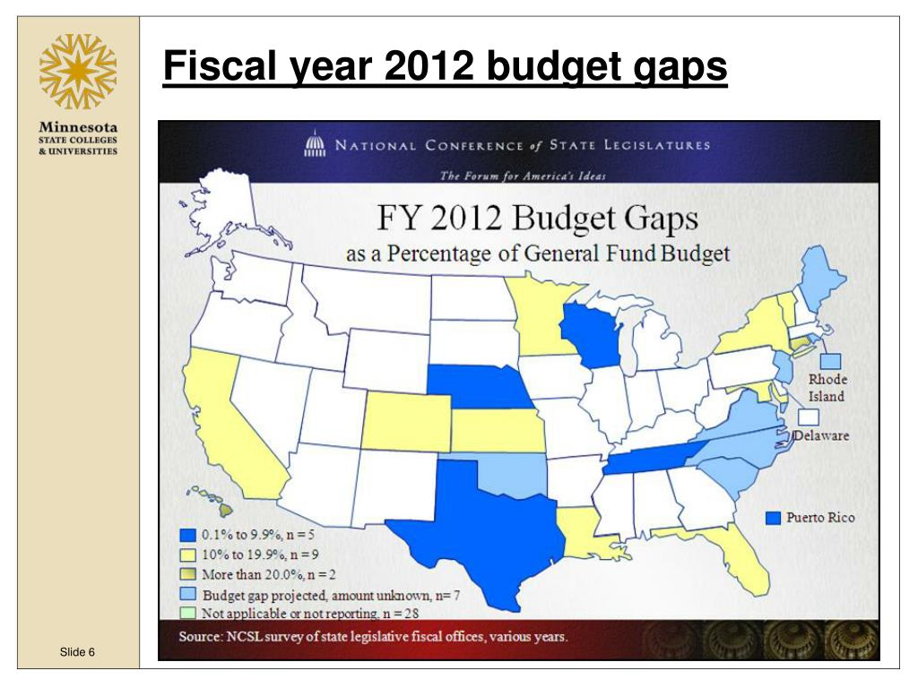 Fiscal year 2012 budget gaps