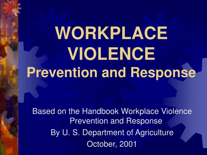 workplace violence prevention and response n.