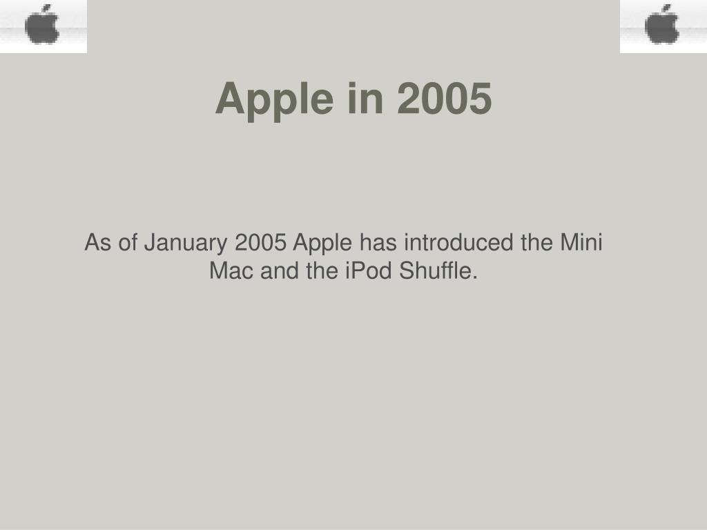 Apple in 2005